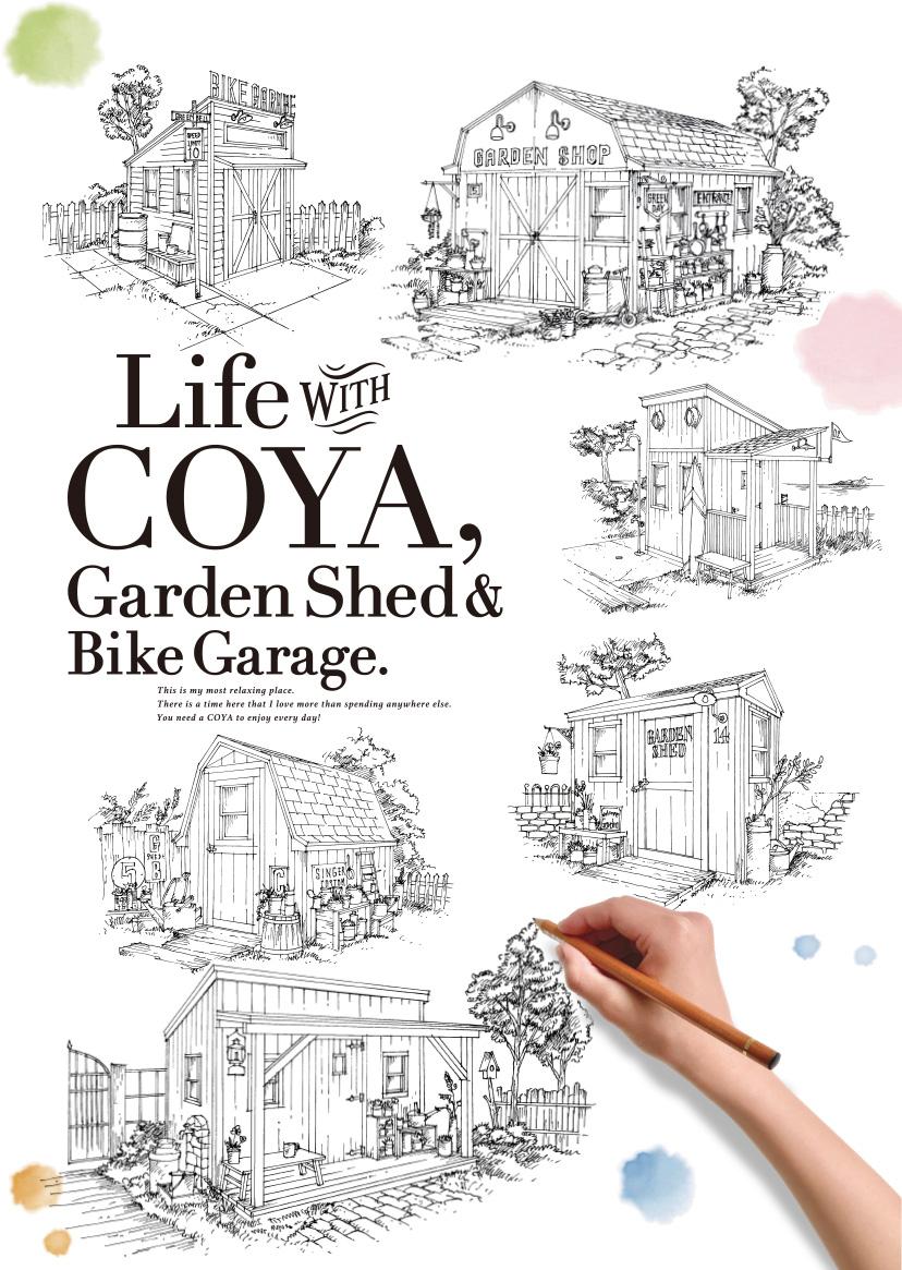 Life with COYA, Garden Shed & Bike Garage.